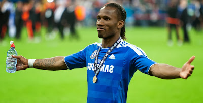 Didier Drogba celebrating