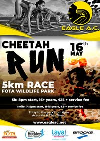 5k in Fota Wildlife Park on 16th May - Entries open 18th Apr