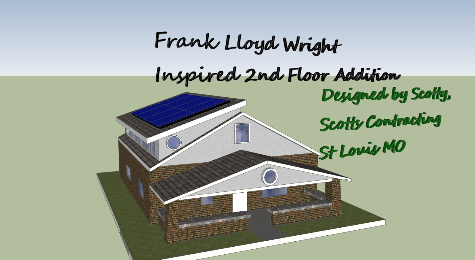 Design by Scotty-Scotts Contracting-Frank Lloyd Wright Inspired 2nd Floor Room Addition