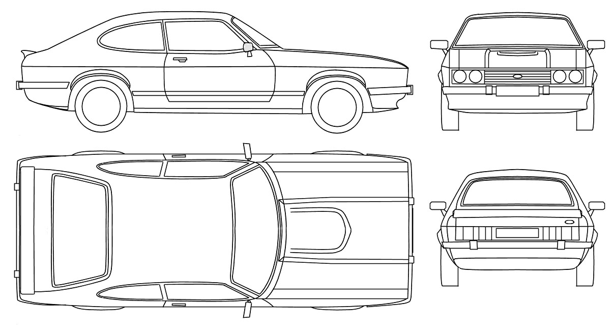 3d auto club blueprints ford