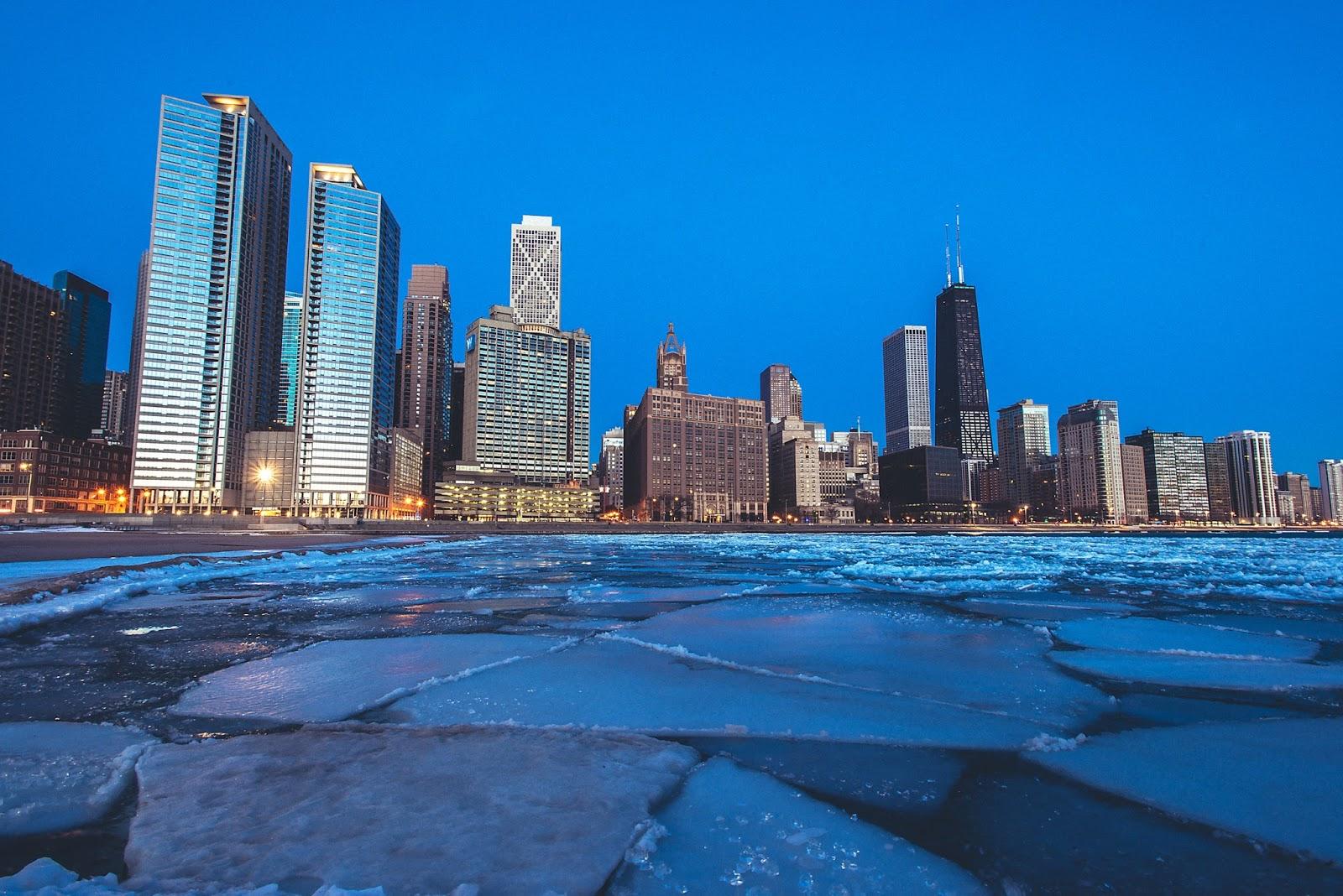 Chicago Sunrise Ice