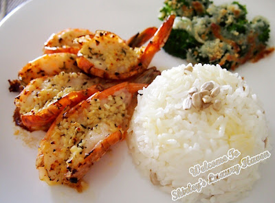 garlic prawns recipe, cook for family