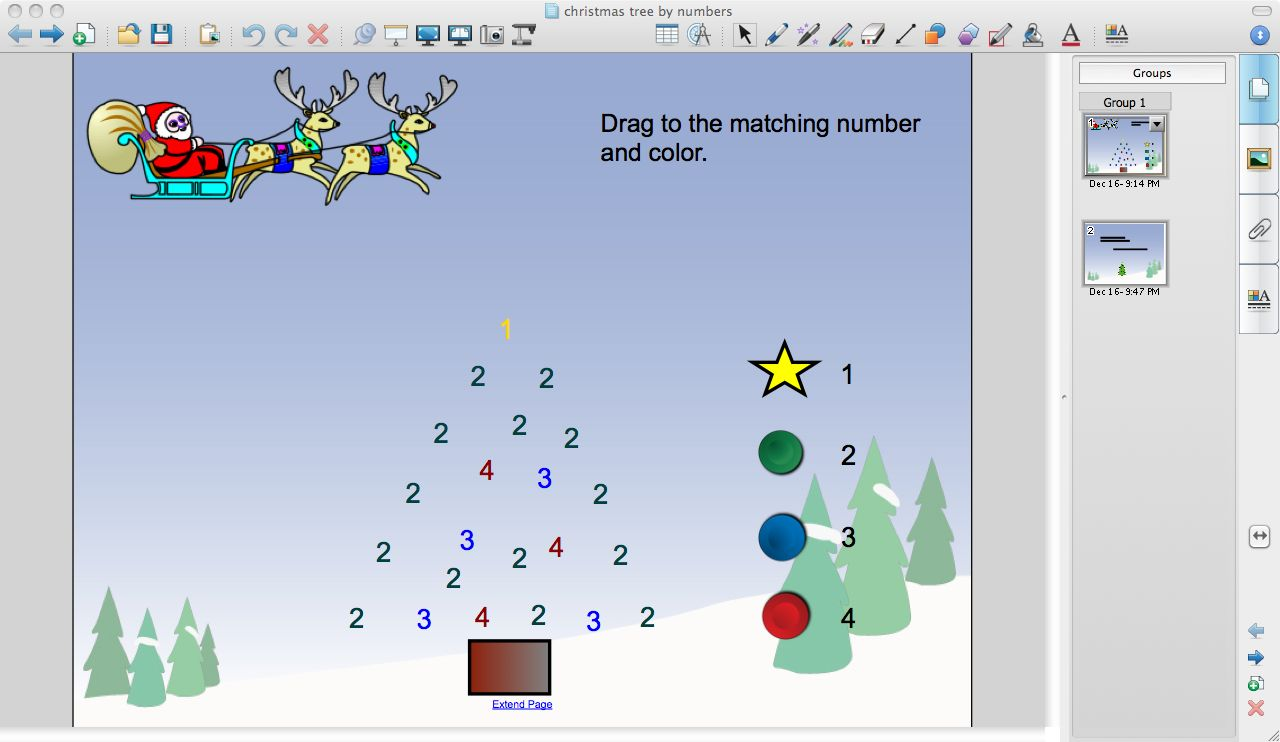 Christmas Tree Color By Number Printables Christmas tree by numbers