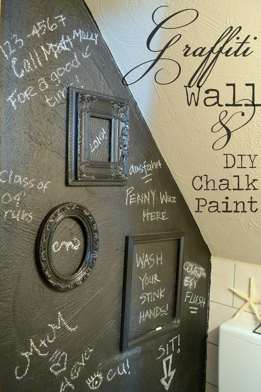 The poor sophisticate potty talk and diy chalk paint for Diy chalk paint problems