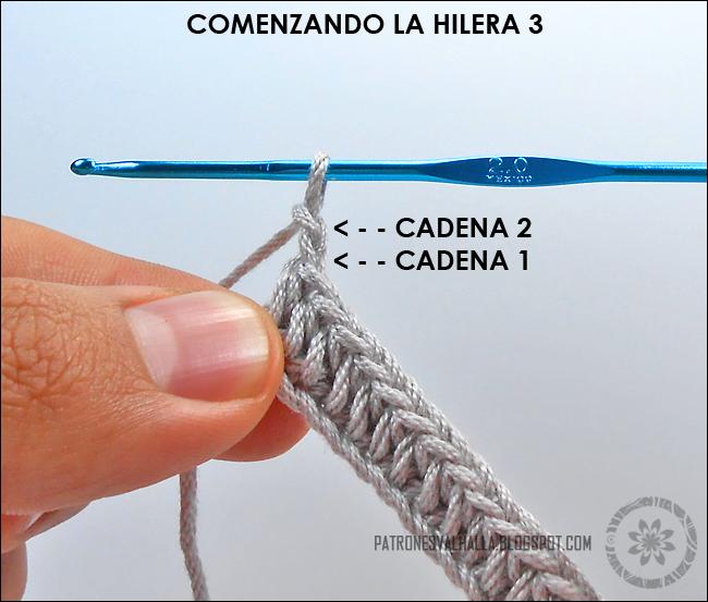 Punto elástico de medias varetas a Crochet (foto-tutorial) (diagrama ...