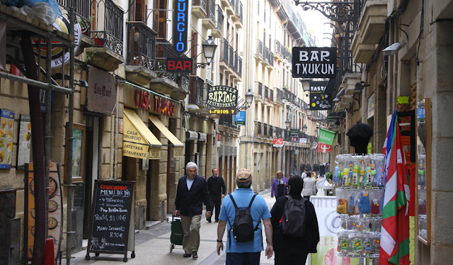The Old Town streets of San Sebastian - Basque Country