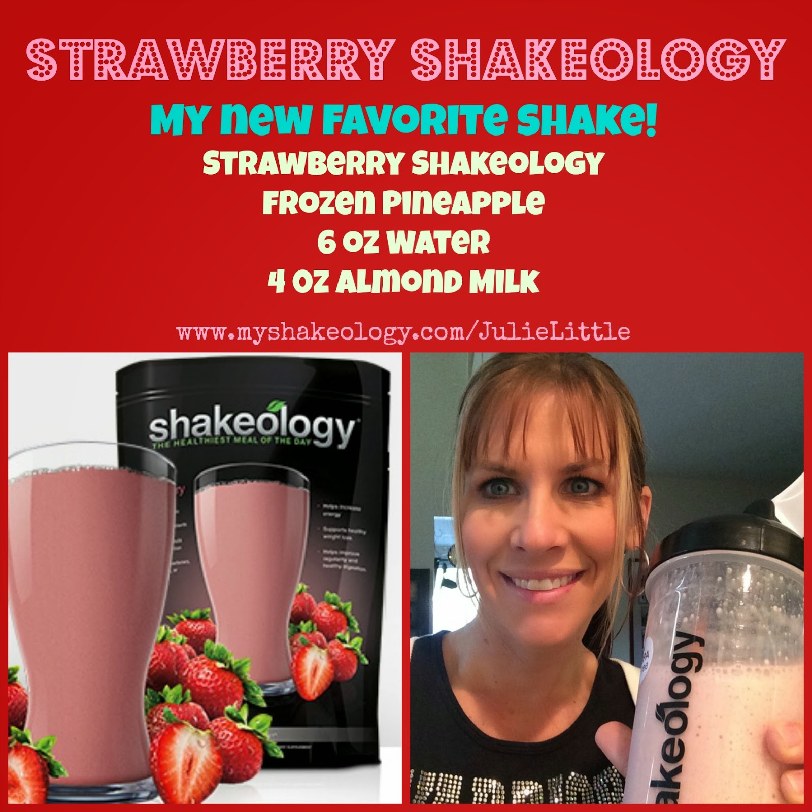 Strawberry Pineapple Shakeology, www.HealthyFitFocused.com
