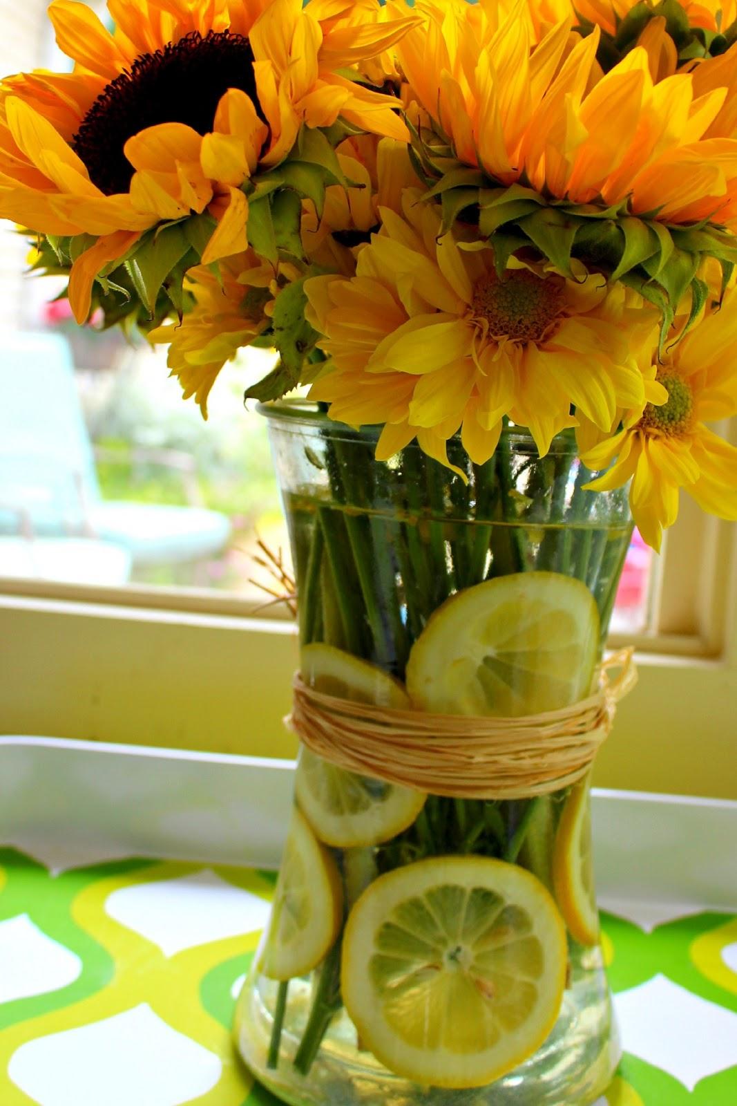 When life hands you lemons sunflower lemon vase