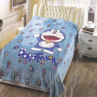 Selimut Sutra Panel Belladona Doraemon