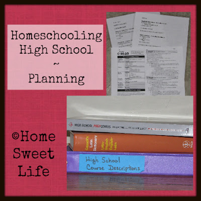 Homeschooling High School - planning