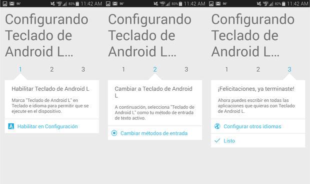 Descarga e instala el teclado de Android L