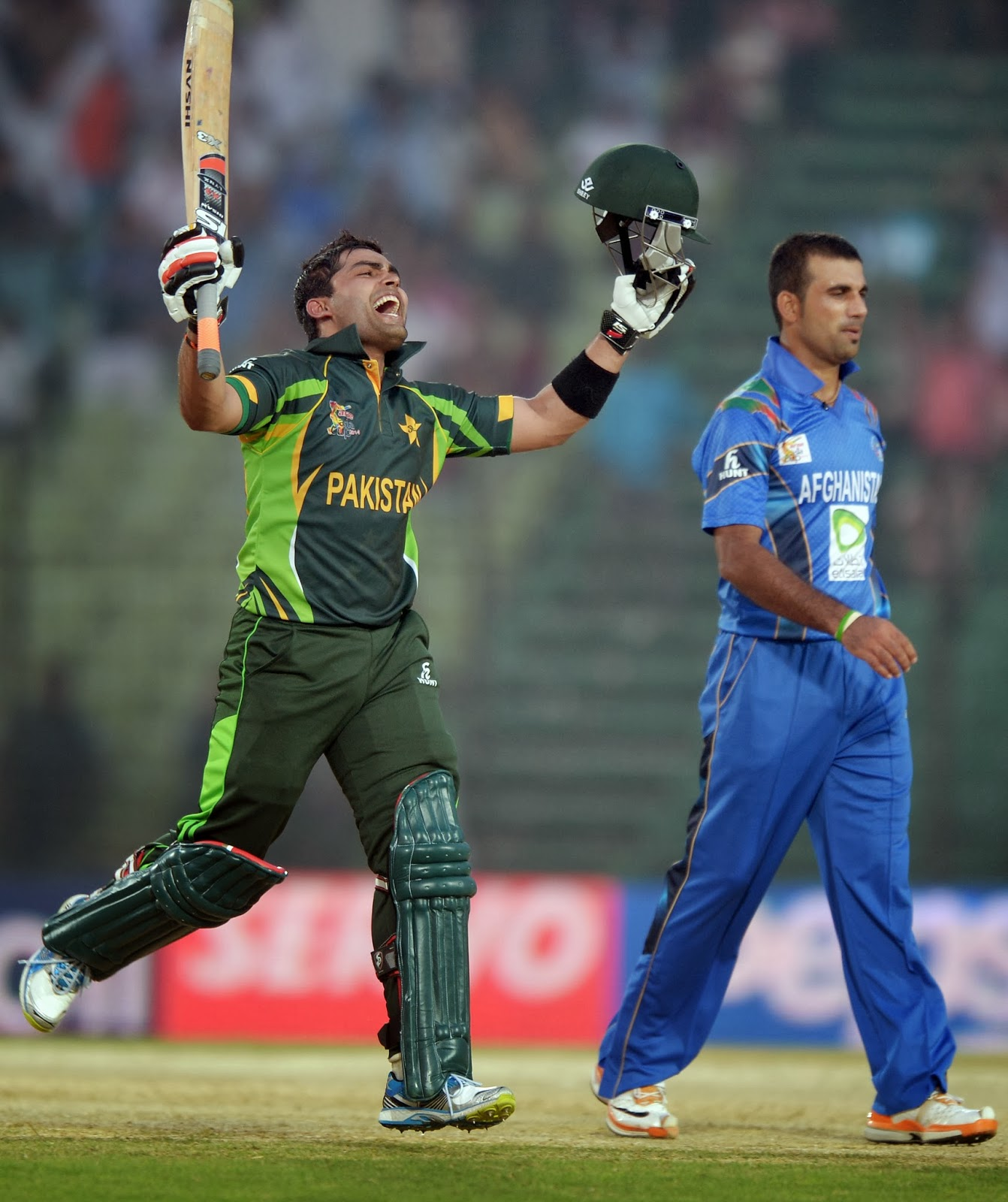 ACC, Asia Cup, Asia Cup 2014, Bangladesh, Bonus-point, Century, Cricket, Cricketer, Pakistan vs Afghanistan, Pakistan Won, Sports, Third Match, Tournament, Umer Akmal, Umer Gul, Winner,