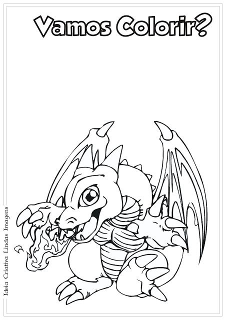 Yu-Gi-Oh! desenho para colorir