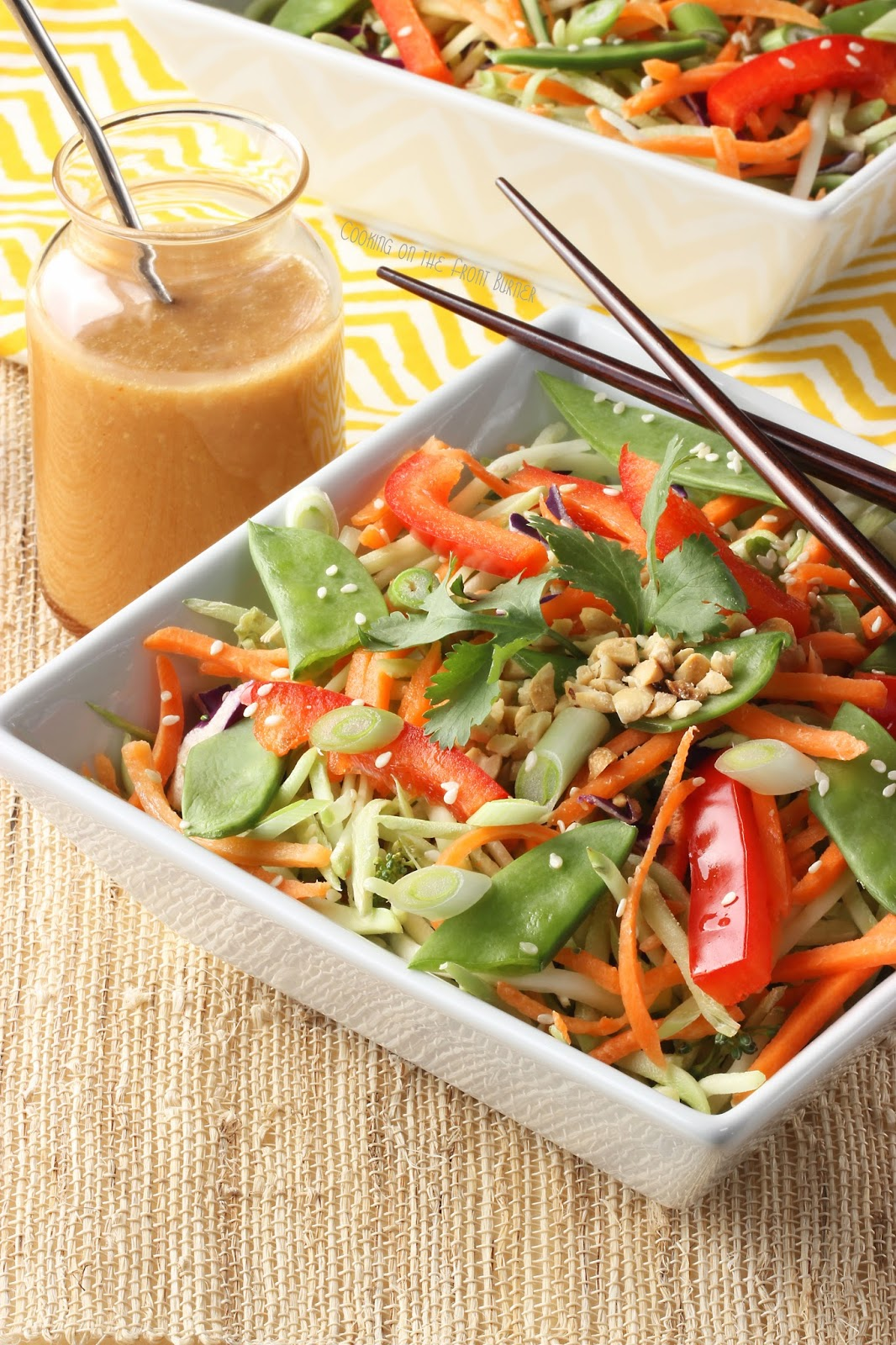 Asian Slaw with Ginger Soy Dressing |Cooking on the Front Burner #asiansalad #gingerdressing