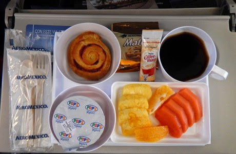 Desayuno en el vuelo