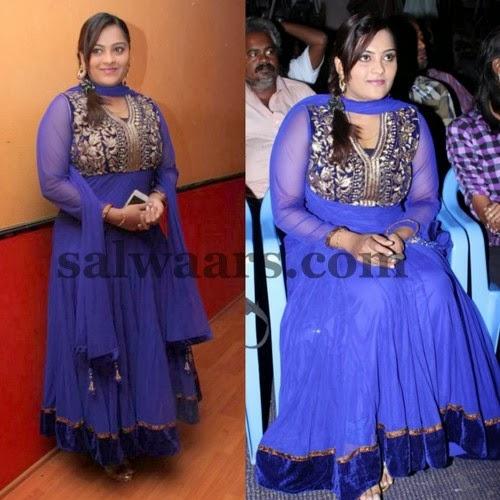 Suji Bala Blue Salwar Kameez