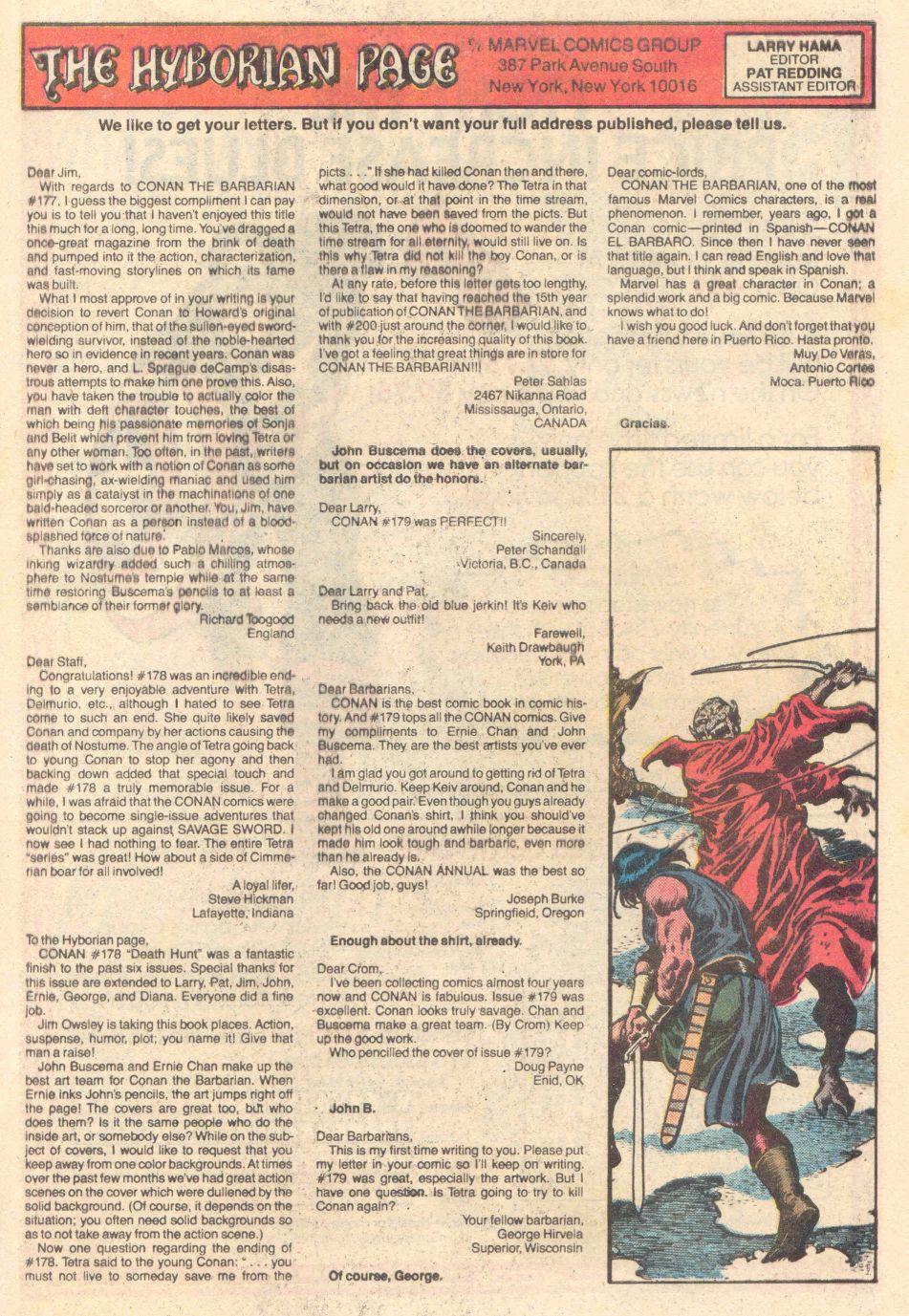 Conan the Barbarian (1970) Issue #183 #195 - English 25