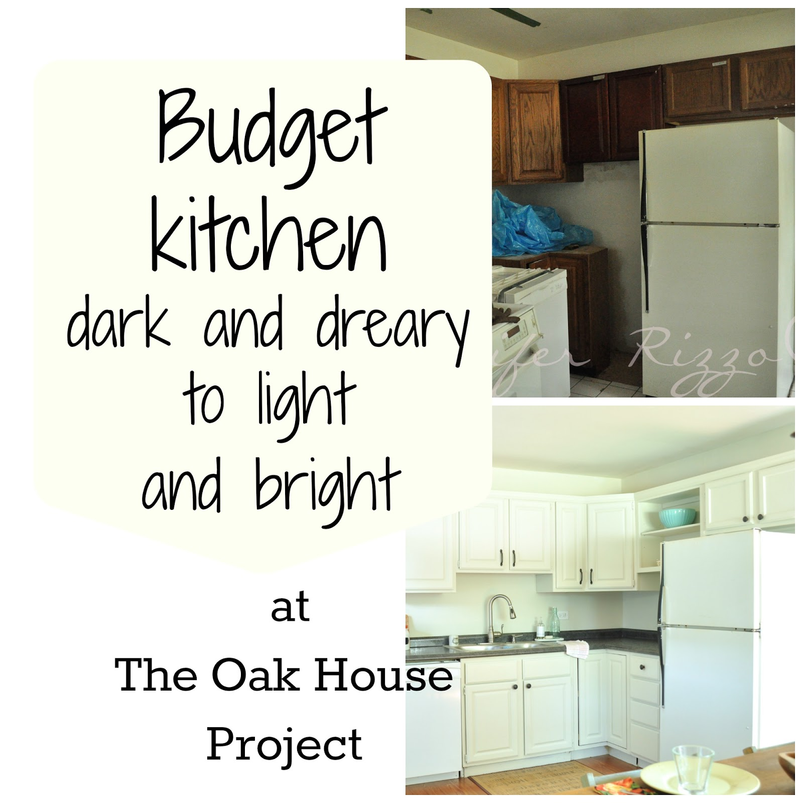 The Oak House Project Before and after kitchen on a budget