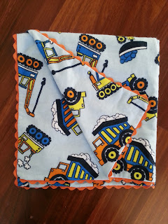 handmade blanket wrap rickrack