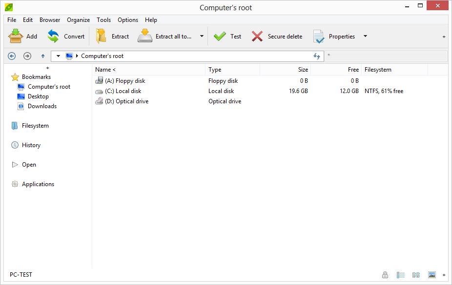 برنامج مجاني مميز لضغط وفك الملفات يدعم جميع صيغ الملفات المضغوطة PeaZip 5.2.2