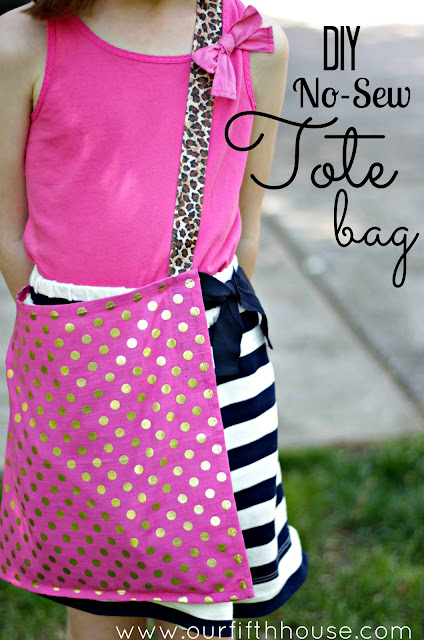 DIY no sew tote bag