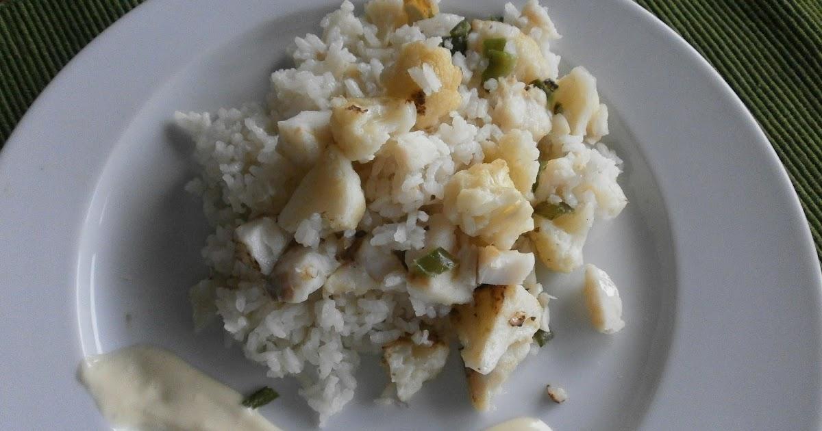 Tximitxurri arroz con bacalao y coliflor - Arroz con bacalao desmigado ...