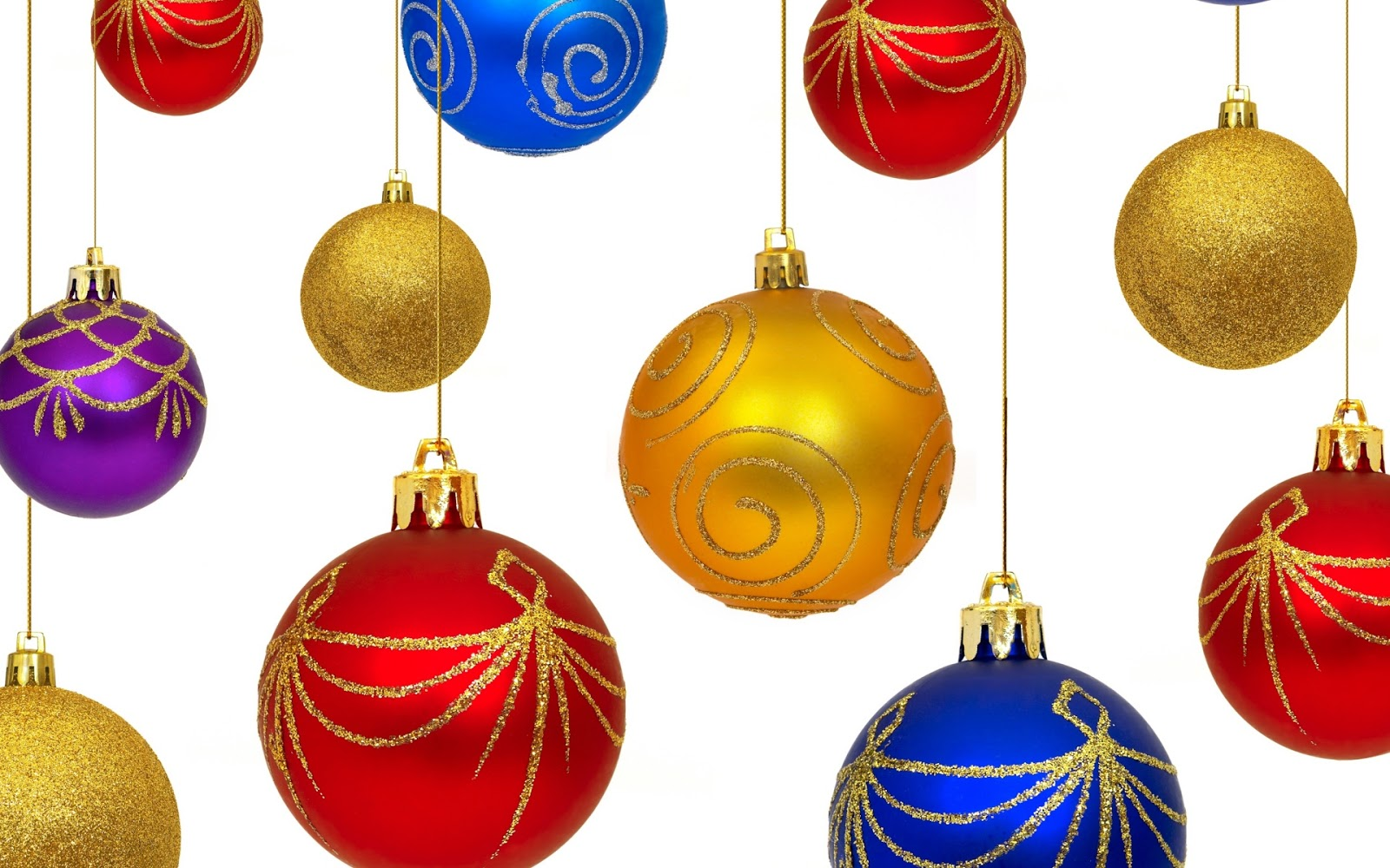 Wallpapernarium bolas de navidad de distintos colores - Como decorar una bola de navidad ...