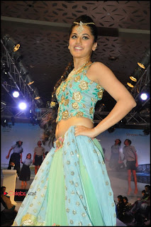 Tapsee Pannu Pictures in Designer Dress at Pionate Foundation Fashion Show ~ Celebs Next