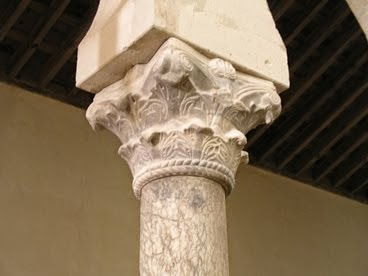 Columna y capitel. San Cebrián de Mazote