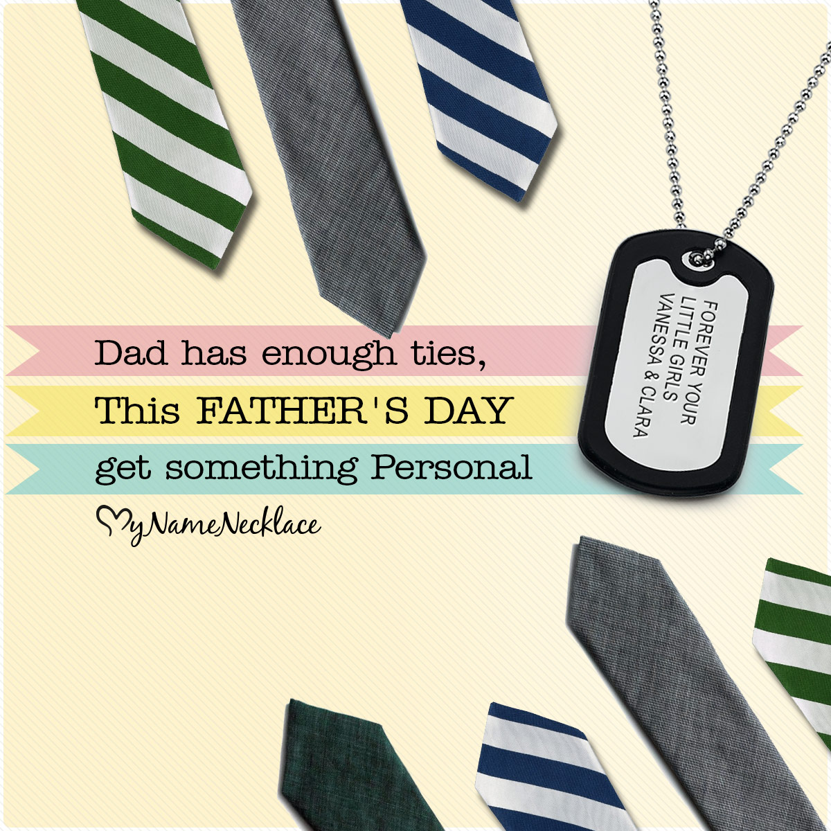 MyNameNecklace Father's Day Celebration