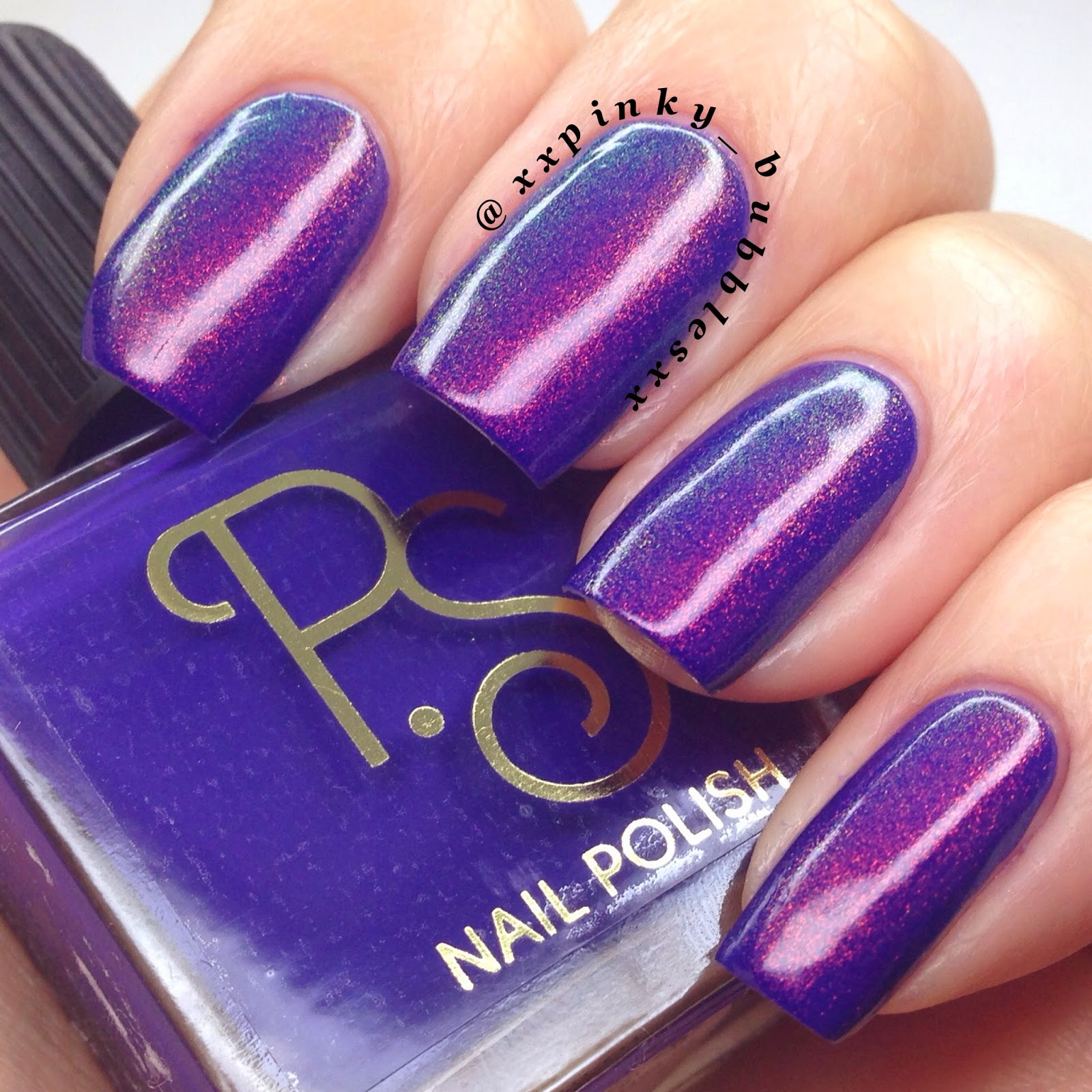 Barry M Blue Grape Is Lovely As An Undie For FF. The Colours Really Shine  Through And If You Look At The Macro You See Them Clearly.