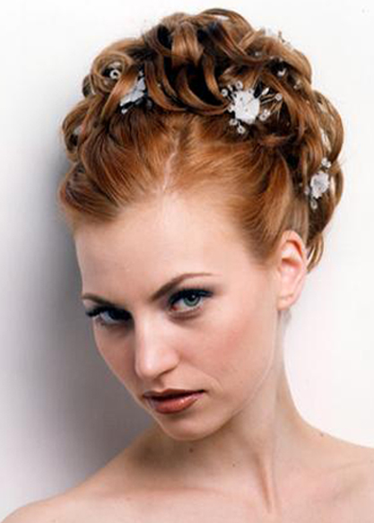 Wedding Hair Styles For Long Hair With Flower Tiara Cute Design