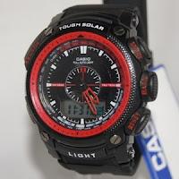 jam tangan casio g-shock  protrek merah
