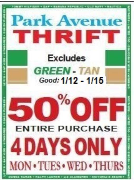 Avenue coupons in store 2019