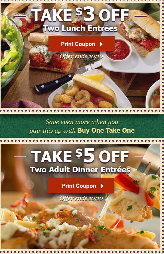 Arizona Families New Olive Garden Coupons