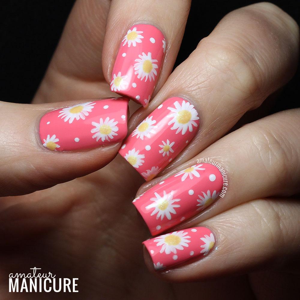 Amateur Manicure A Nail Art Blog Delightful Daisies Nail Art