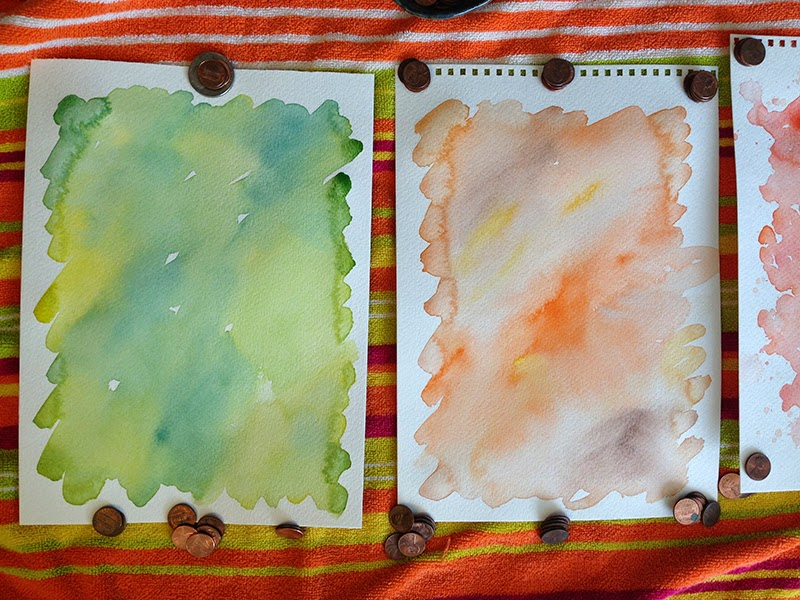 closeup watercolor pages - Creating Watercolor for our Spring Catalog