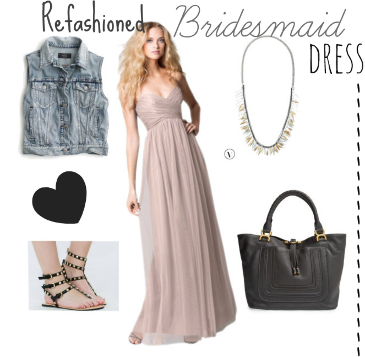 Refashioned bridesmaid dress
