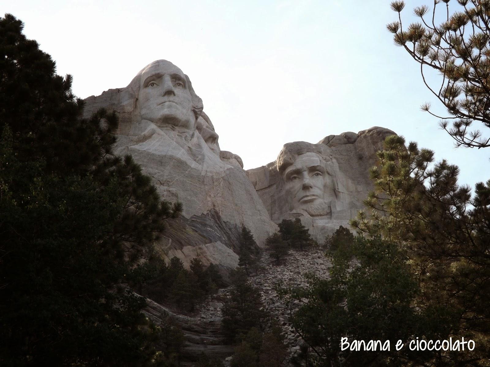 monte Rushmore, silvia diemmi, banana e cioccolato, usa