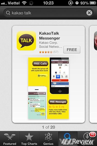 huong dan kakao talk, su dung kakao talk, kakao talk cho iphone, ung dung kakao talk
