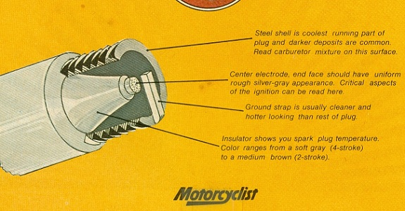 Spark Plug In Center Is Ideal Condition Porcelain Can Range From A Light Brown To Dark Chocolate With The Darker Shade Favoring 2 Stroke Type Engines