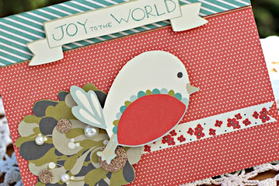 Joy to the World card featuring Merry Mistletoe Card Kit by SEI designed by Rhonda Van Ginkel