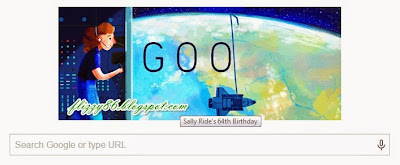 SALLY RIDE on GOOGLE today