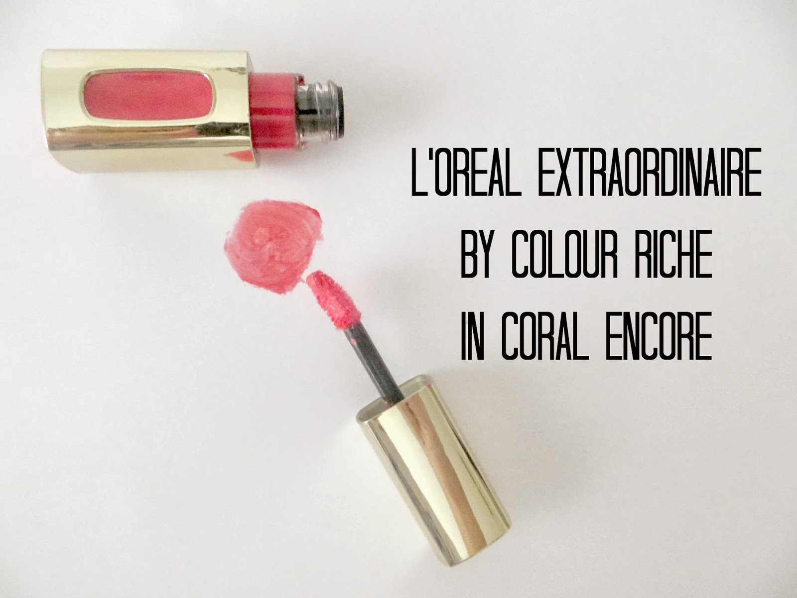 Loreal colour caresse wet shine stain - L Oreal Extraordinaire By Colour Riche In Coral Encore