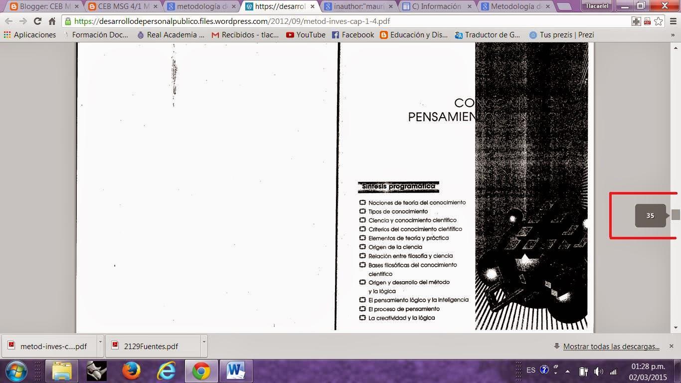 METODOLOGÍA DE LA INVESTIGACIÓN: ACTIVIDAD 6: CONOCIMIENTO Y ...