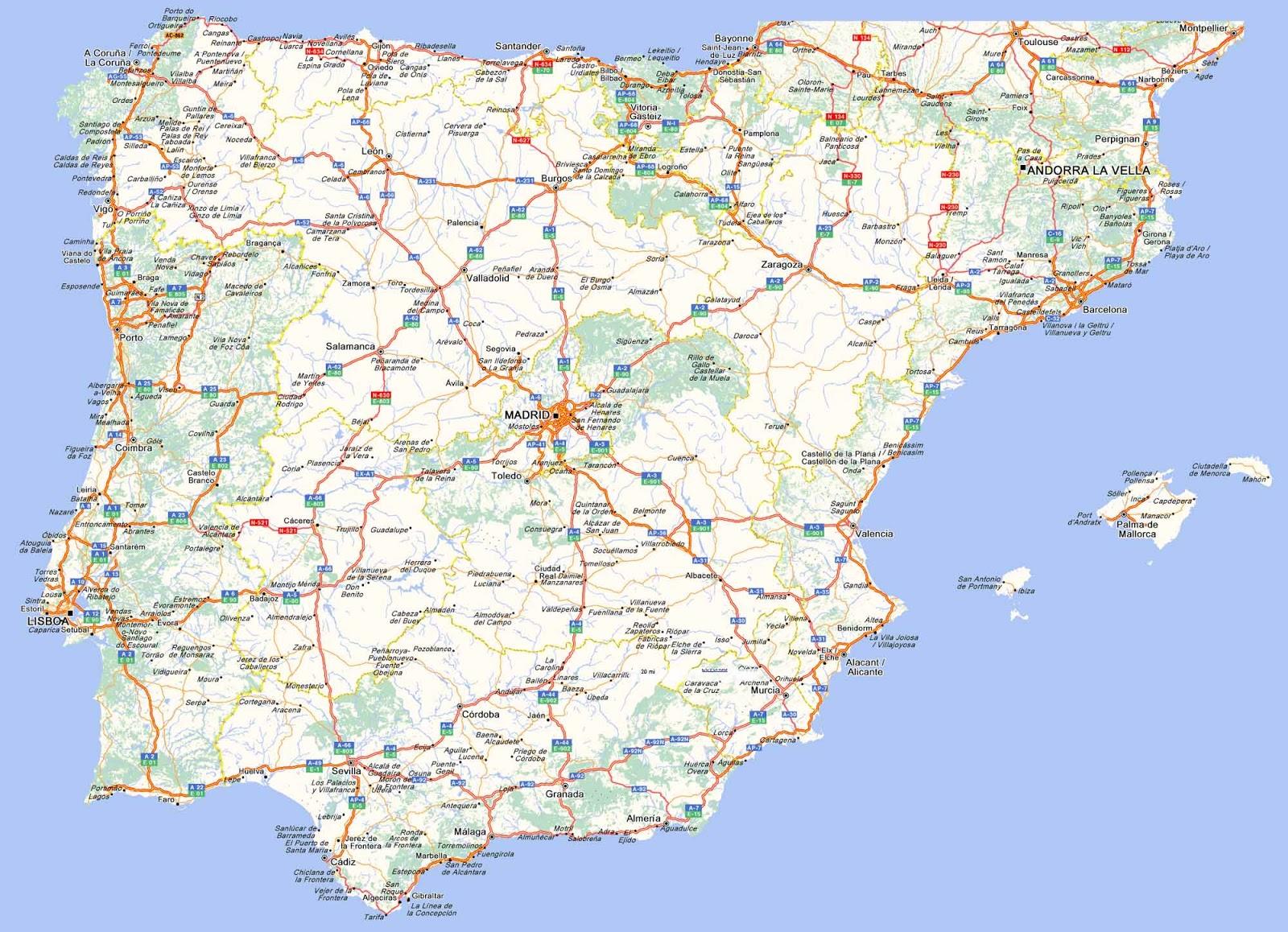 Mapas Carreteras