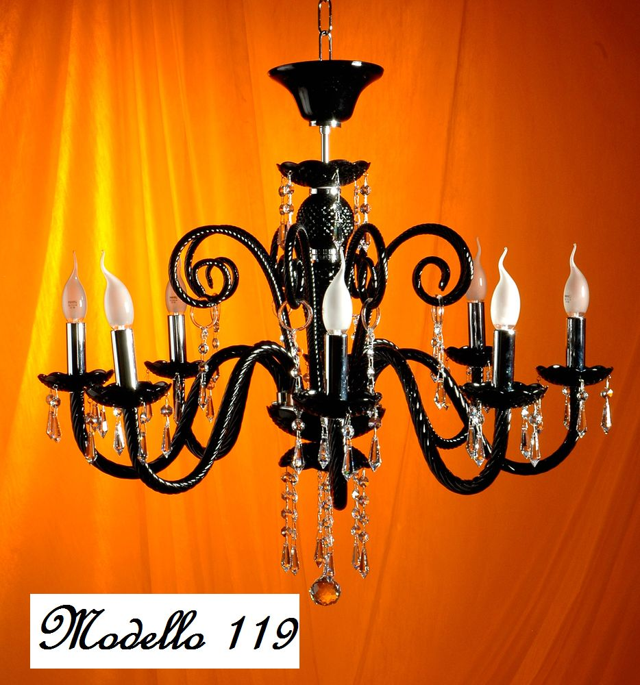 Lampadari con Swarovski Strass Elements: 119 Lampadario in vetro ...