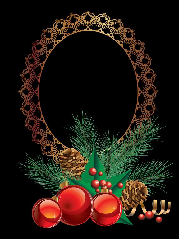 Bonitos marcos de navidad redondos marcos gratis para - Marcos redondos para cuadros ...