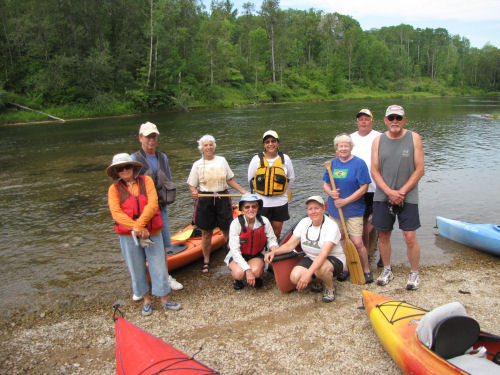 group of people on paddle trip