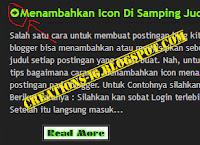 Cara Menambahkan Icon Pada Judul Postingan Blog